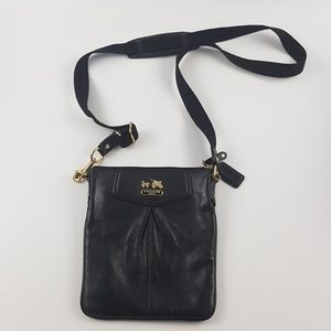 Coach black mini side bag purse